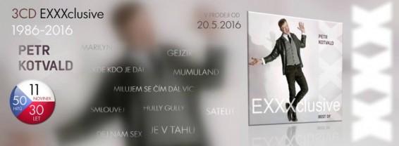 PETR KOTVALD EXXXclusive BEST OF – Tři dekády sólové dráhy 50 hitů + 11 novinek!